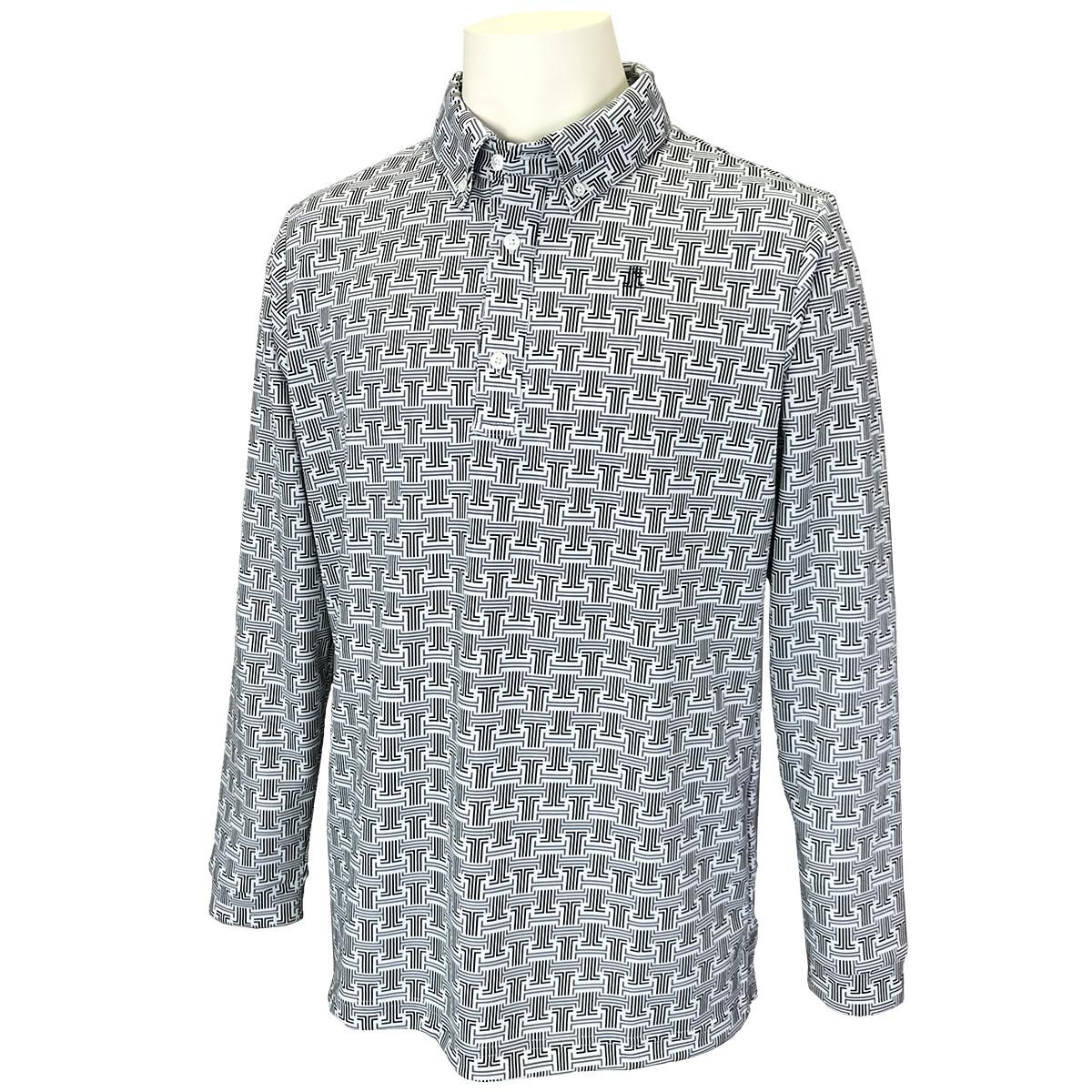 JLモノグラムロゴプリント長袖ポロシャツ