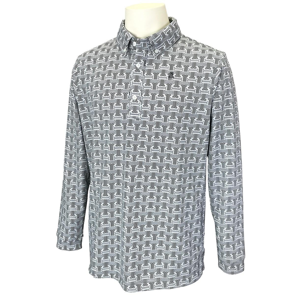 ランバン スポール(LANVIN SPORT) JLモノグラムロゴプリント長袖ポロシャツ