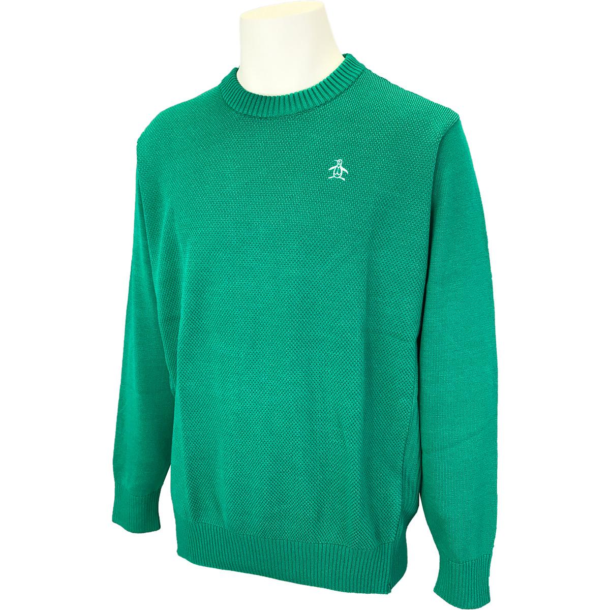 マナードWOOL鹿の子編みクルーネックセーター