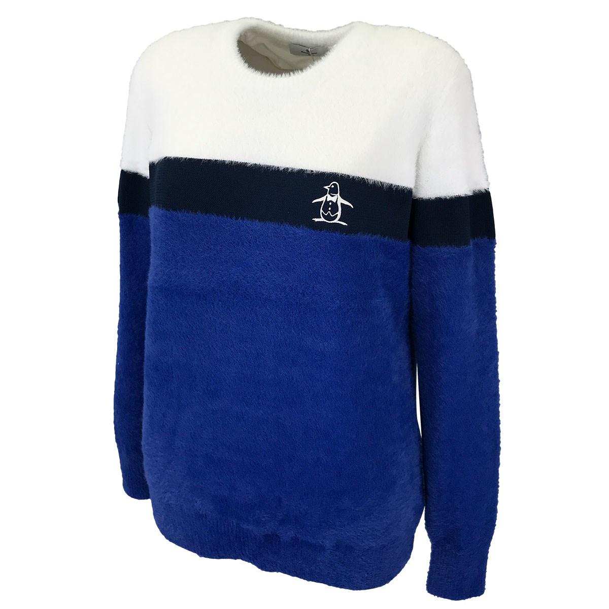 マンシングウェア Munsingwear ブークレー×梳毛裏地付きセーター M ブルー 00 レディス
