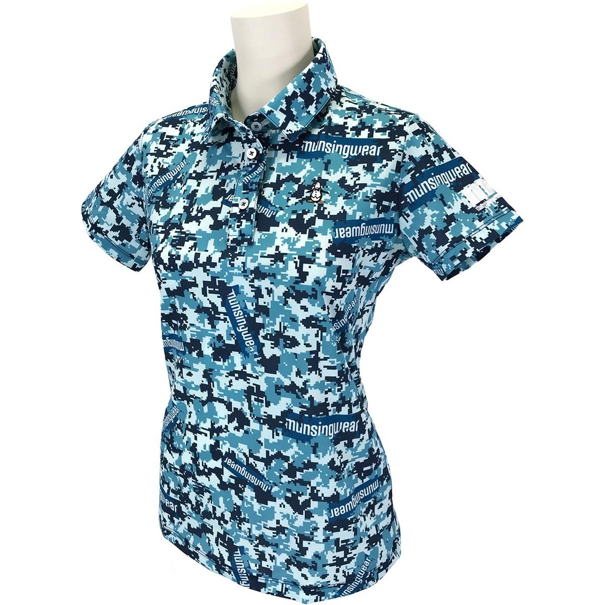 マンシングウェア Munsingwear ENVOY ストレッチ サンスクリーン デジカモプリント半袖ポロシャツ L エメラルド 00 レディス