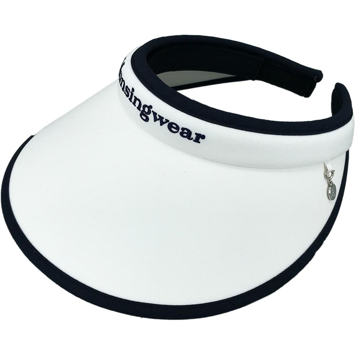 マンシングウェア Munsingwear クリップサンバイザー フリー ホワイト 00 レディス
