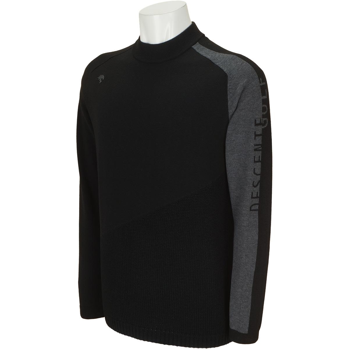 ウール混インターシャライジング切り替えセーター