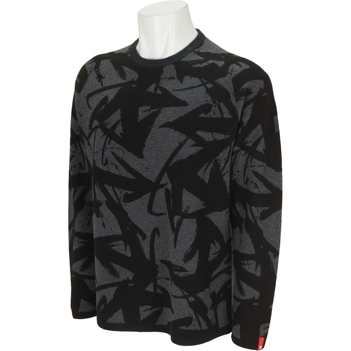 万美コレクション ウール混ジャカードセーター