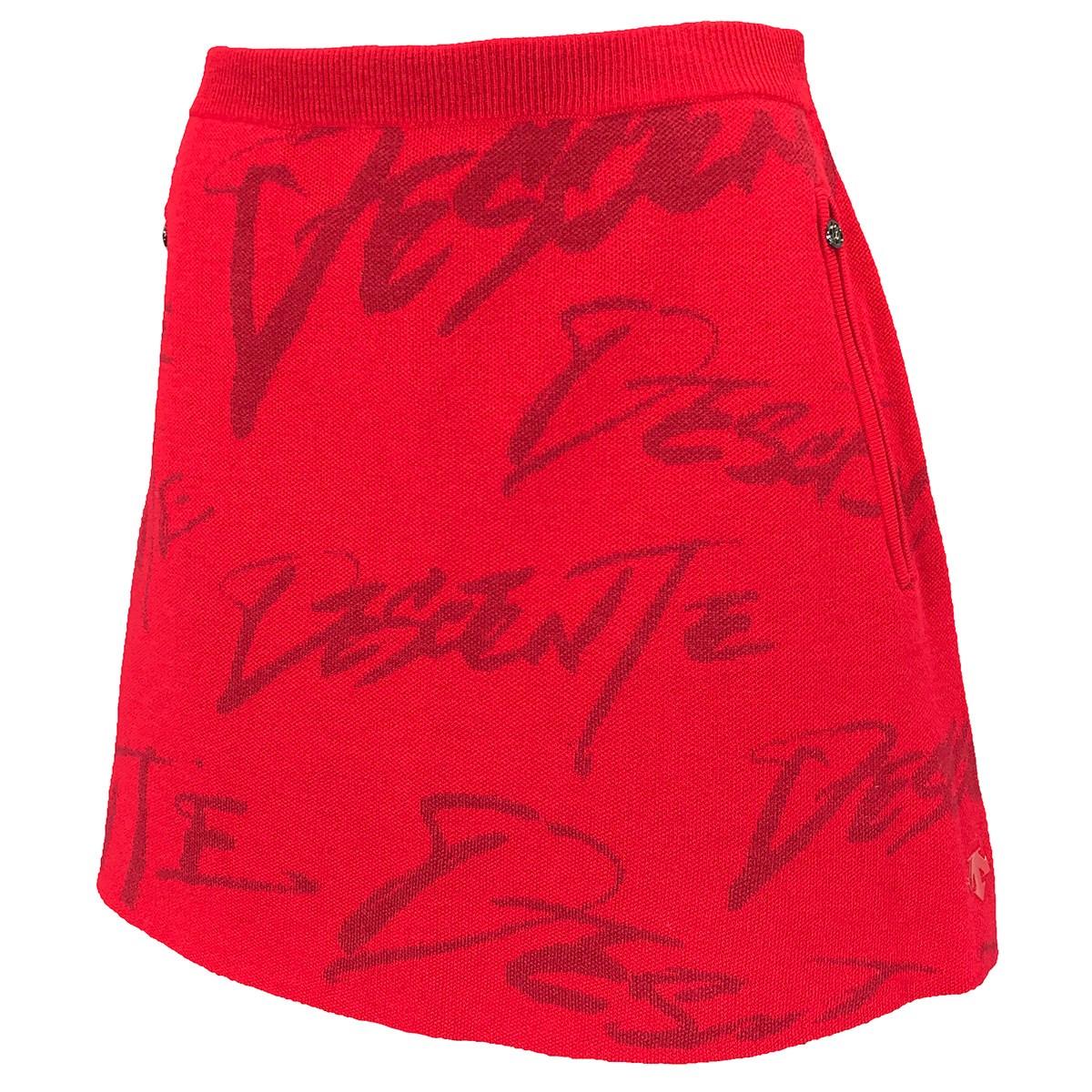 デサントゴルフ(DESCENTE GOLF) 万美コレクション ウール混ロゴジャカードニットスカートレディス