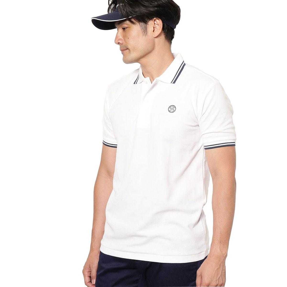 ジュン アンド ロペ JUN & ROPE 鹿の子パイピング半袖ポロシャツ S ホワイト 10