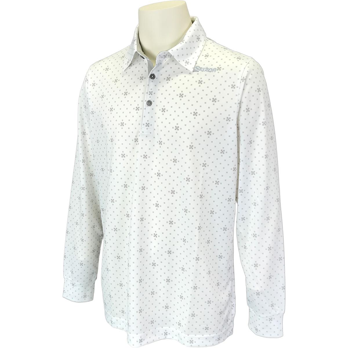 クロスイメージ小紋柄 長袖ポロシャツ