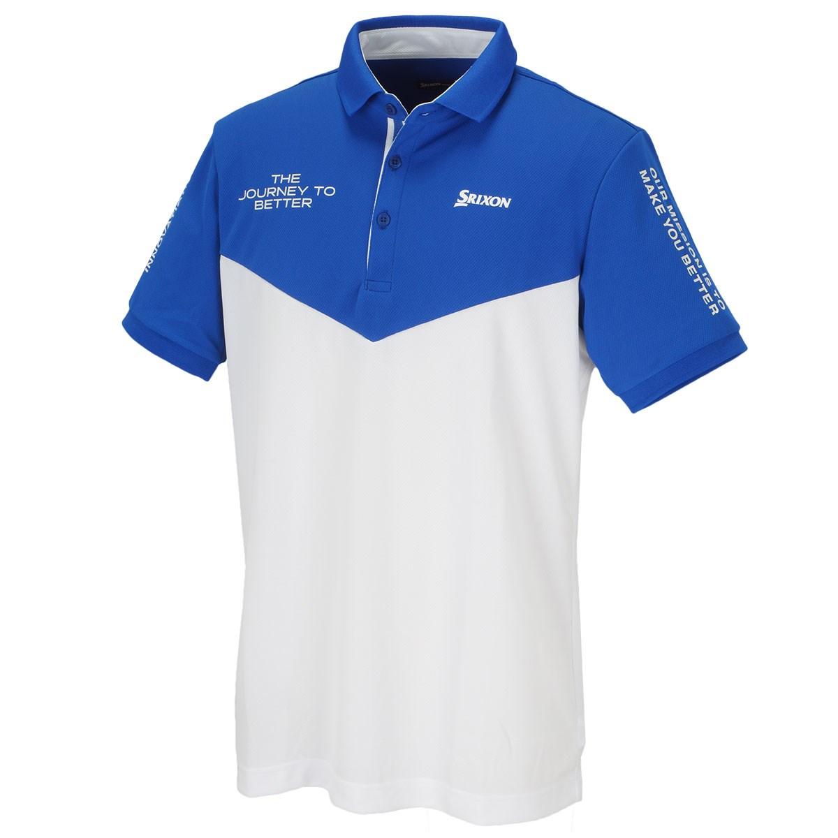 スリクソンゴルフ 切り替えタイポデザイン 半袖ポロシャツ
