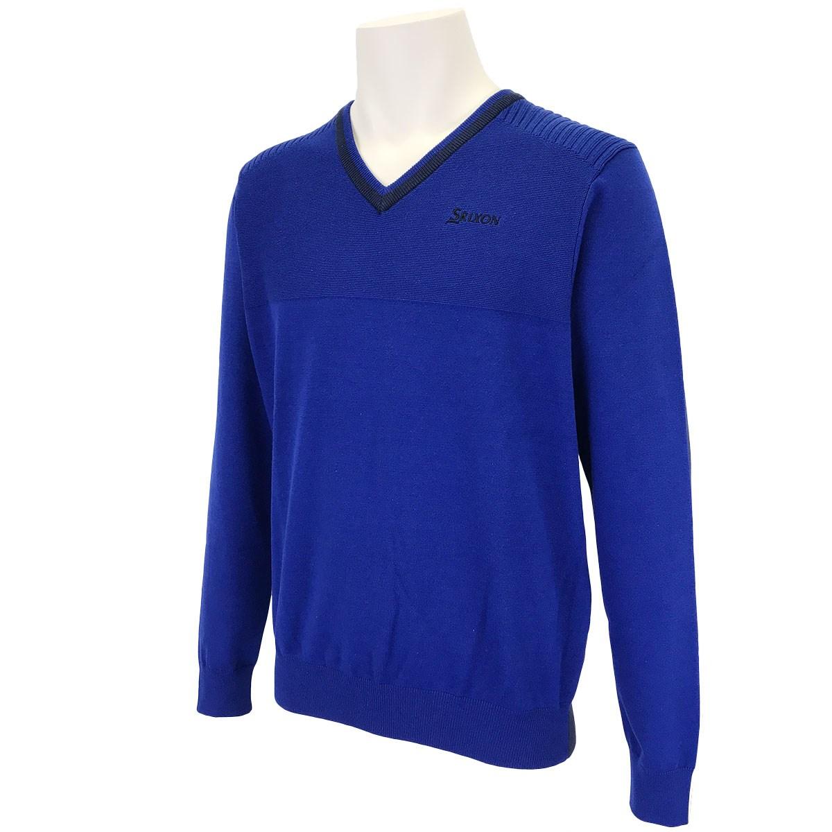 スリクソンゴルフ 前後配色切り替えVネックセーター
