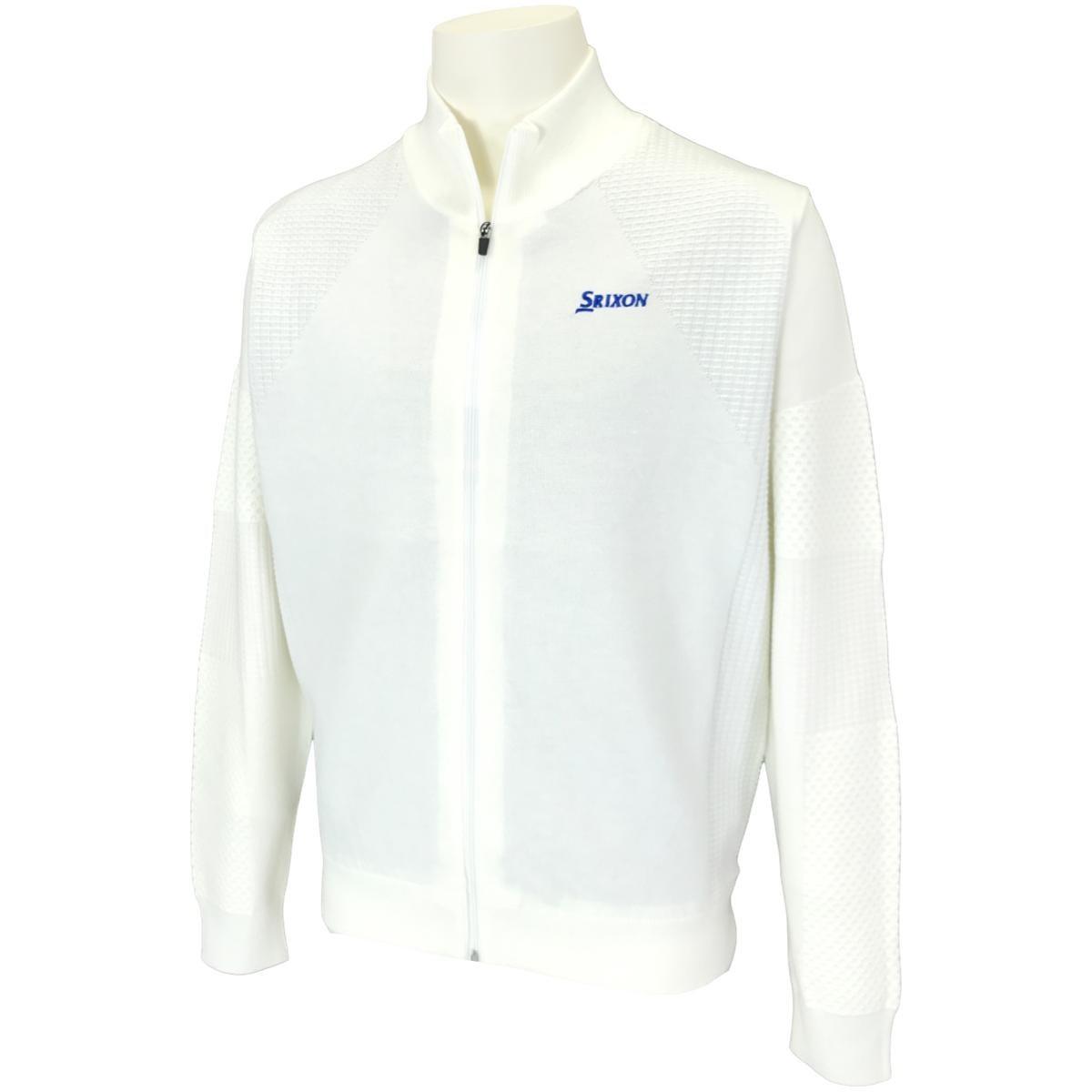 スリクソンゴルフ SRIXON フルジップ ニットジャケット M ホワイト 00
