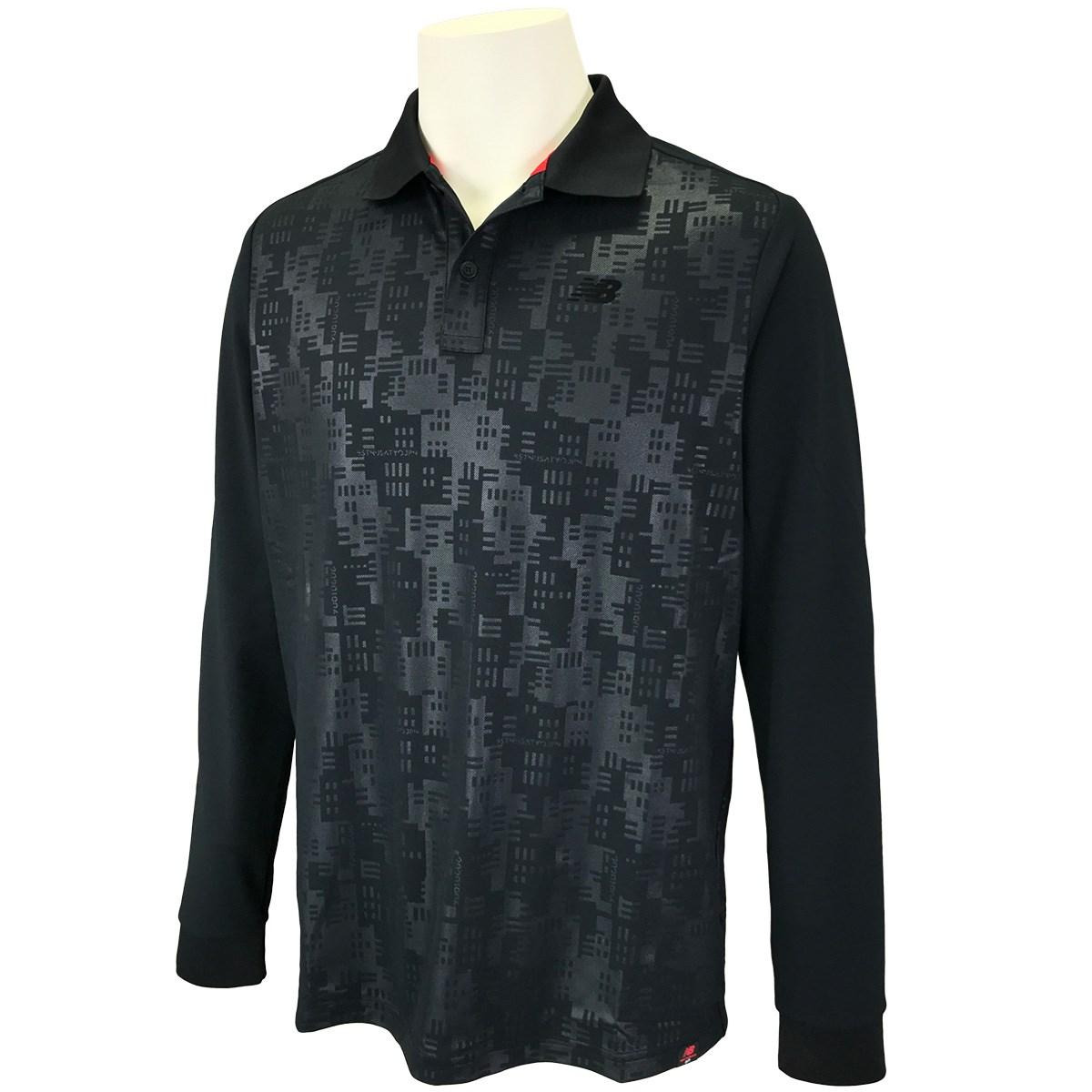 ニューバランス New Balance SPORT 長袖ポロシャツ 4 ブラック 010