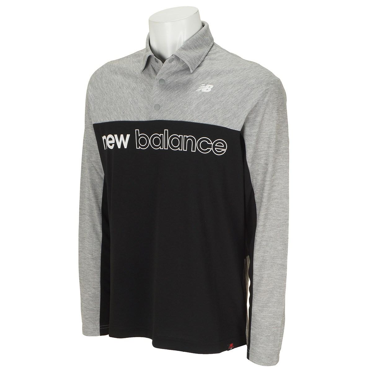 ニューバランス New Balance SPORT カラー 長袖ポロシャツ 4 グレー 020