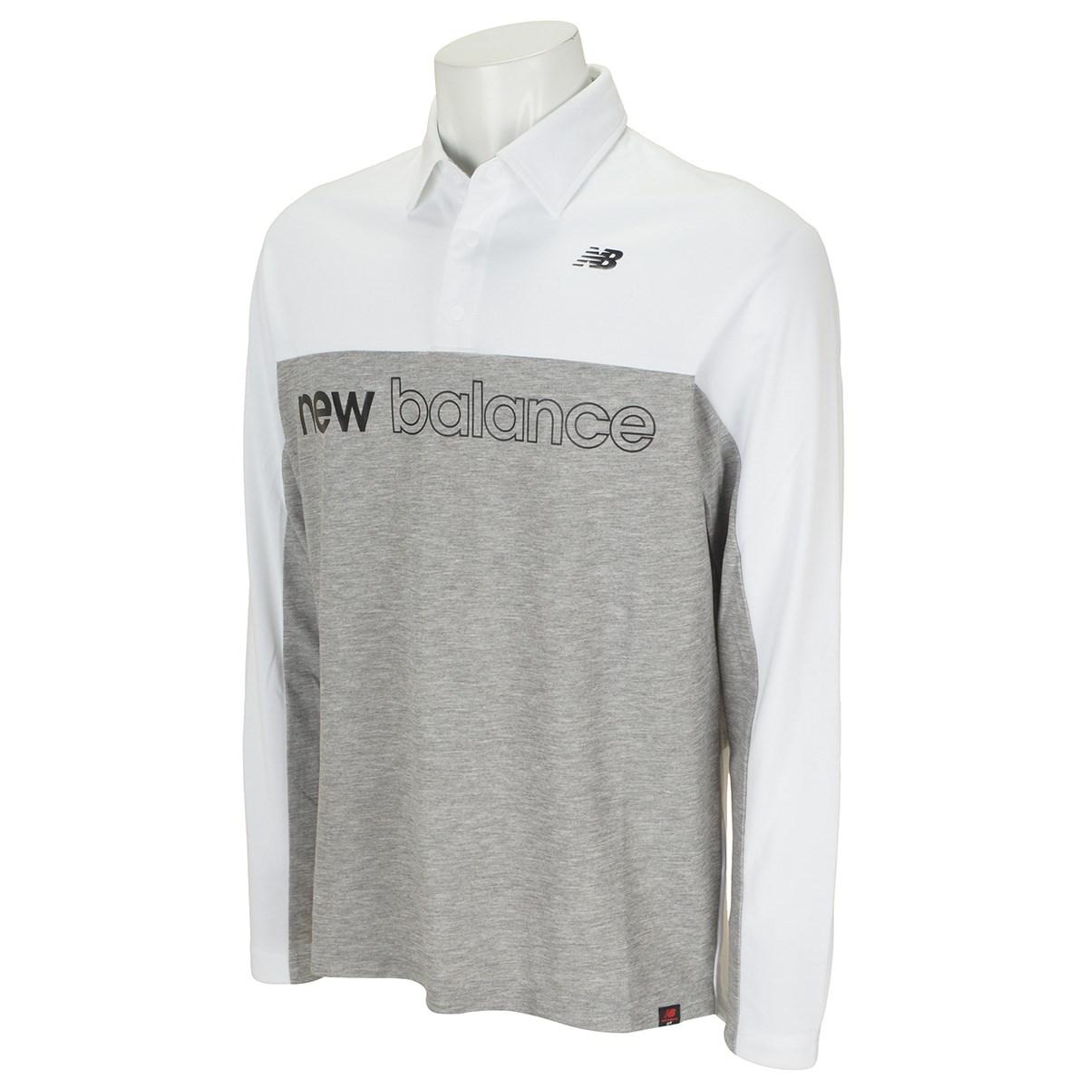 ニューバランス New Balance SPORT カラー 長袖ポロシャツ 4 ホワイト 030