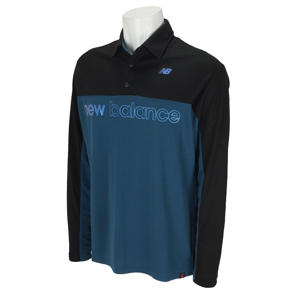 ニューバランス New Balance SPORT カラー 長袖ポロシャツ 4 ブラック 010