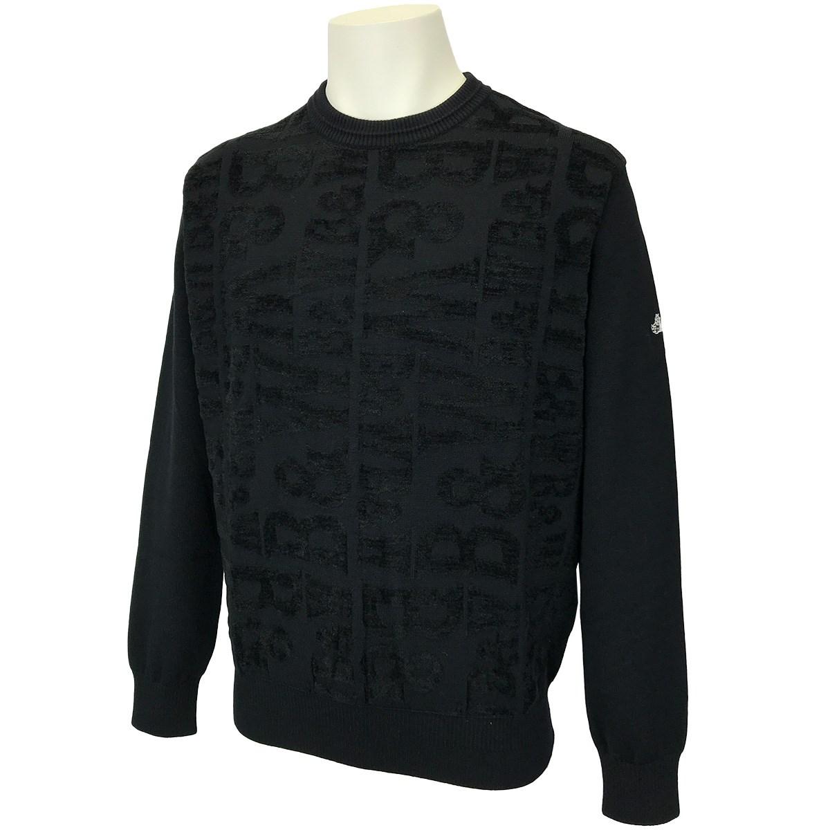 ブラック&ホワイト クールネックセーター