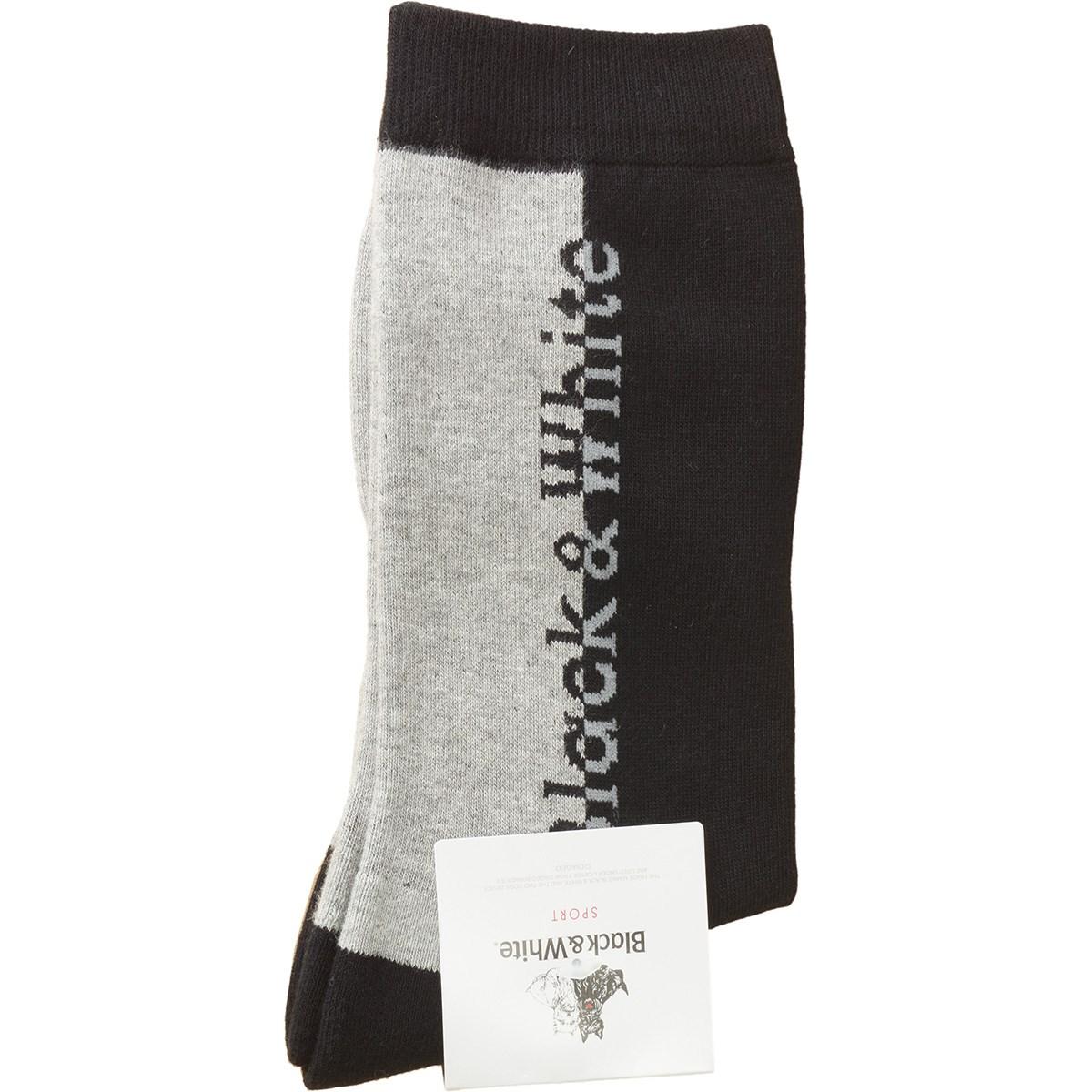 ブラック&ホワイト Black & White ミドルソックス フリー ブラック