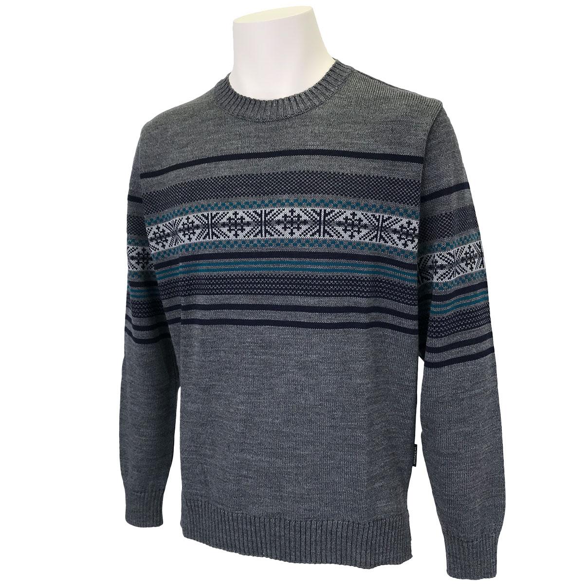 フェアアイル柄丸首セーター