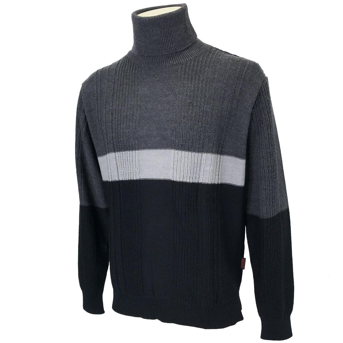 針抜きタートルセーター