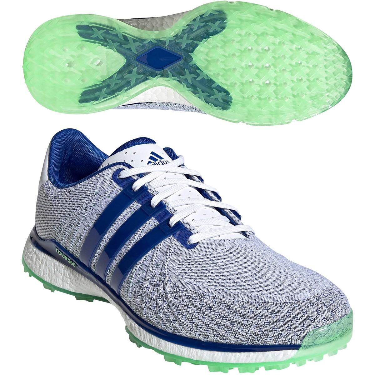 アディダス Adidas ツアー360 XT-SL テキスタイル シューズ 24.5cm ホワイト/ロイヤルブルー/グローリーミント