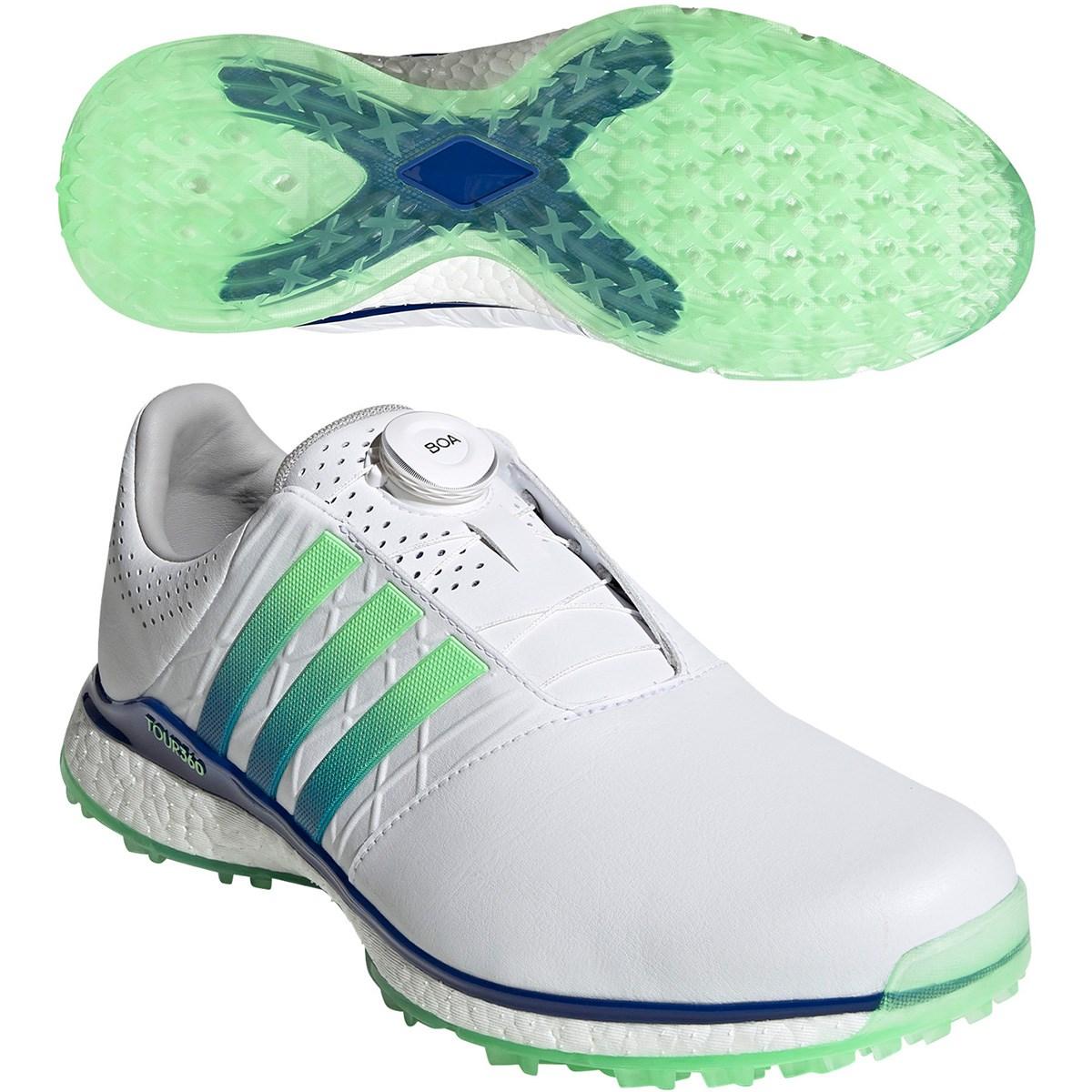 アディダス Adidas ツアー360 XT-SL ボア 2 シューズ 27.5cm ホワイト/ロイヤルブルー/グローリーミント