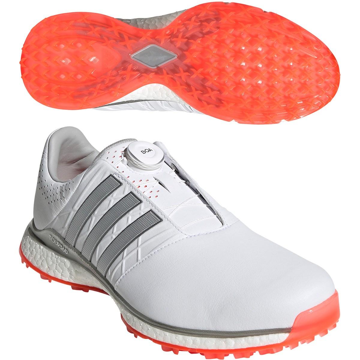 アディダス Adidas ツアー360 XT-SL ボア 2 シューズ 27.5cm ホワイト/シルバーメタリック/ソーラーレッド