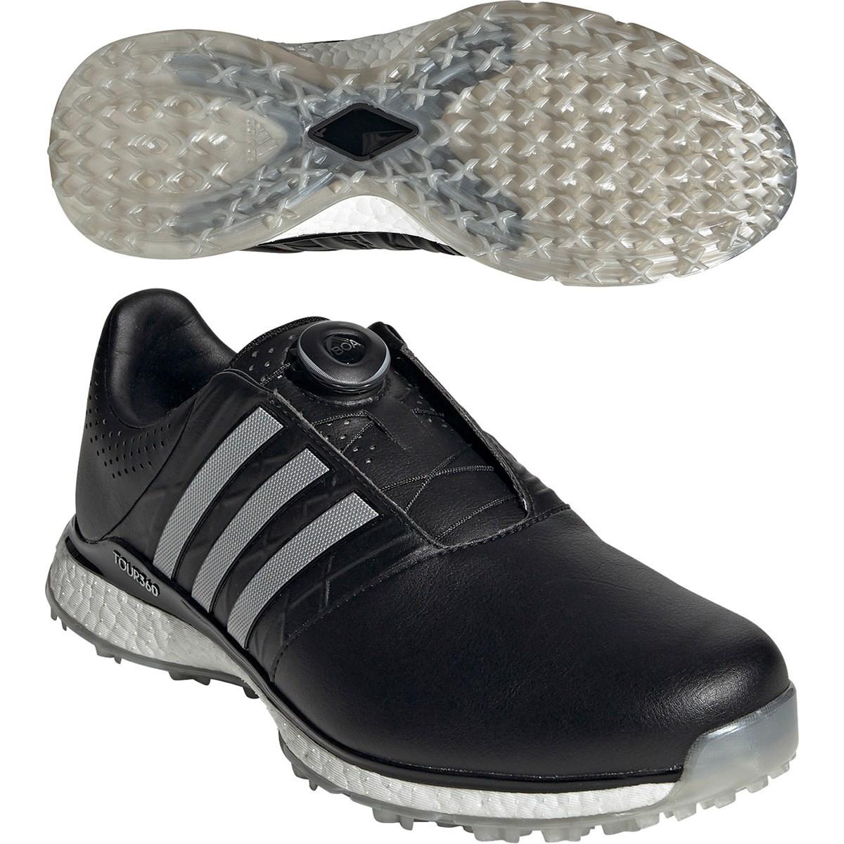 アディダス Adidas ツアー360 XT-SL ボア 2 シューズ 24.5cm コアブラック/シルバーメタリック/コアブラック