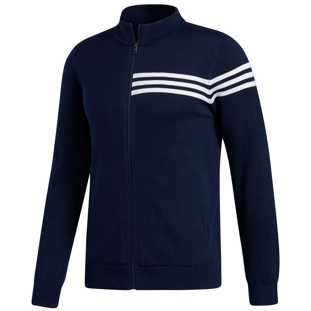 スリーストライプス フルジップセーター