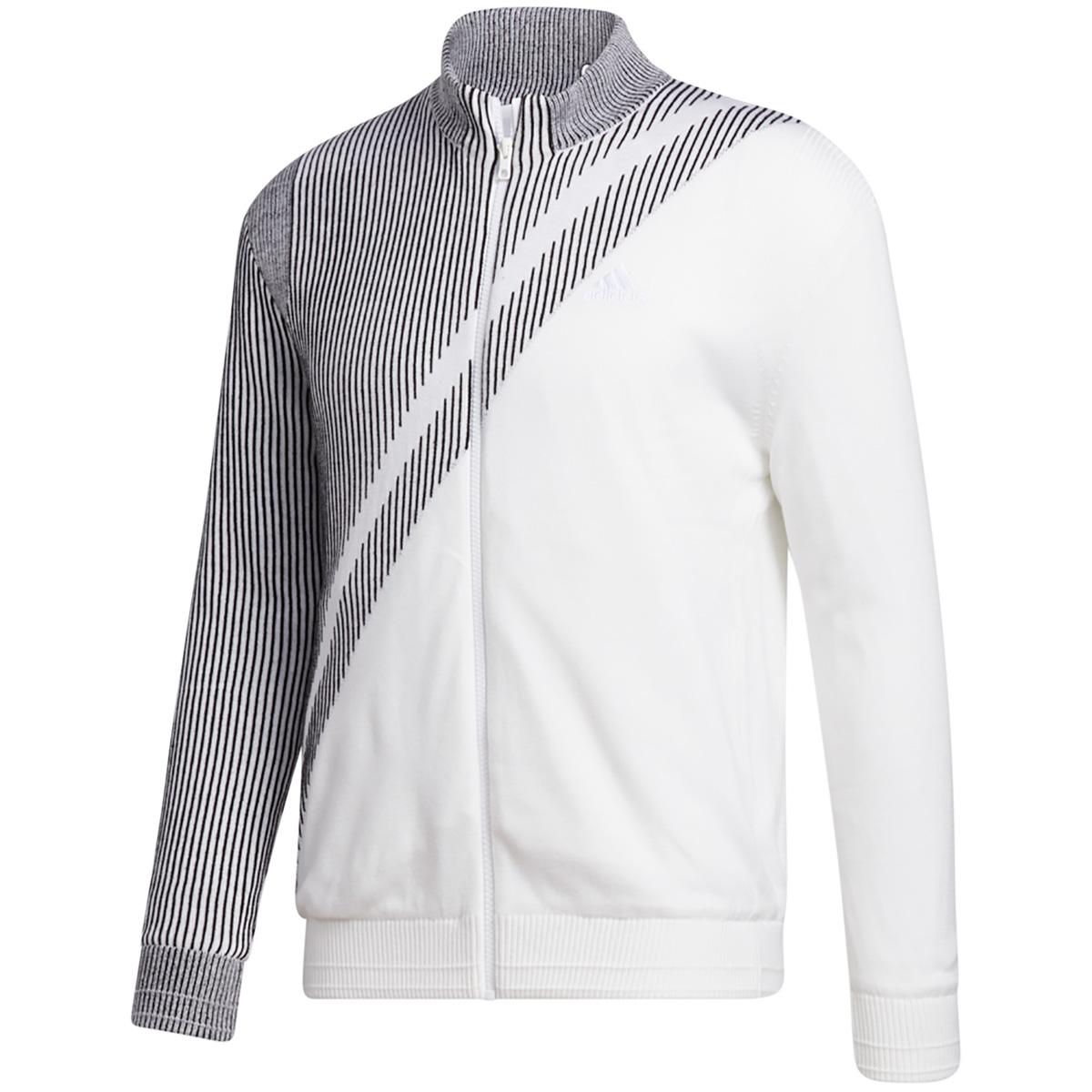 ジャカード ライニングフルジップセーター