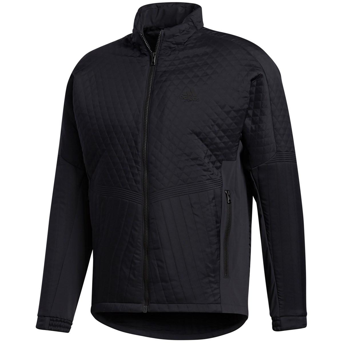 アディダス Adidas スポーツキルティング ストレッチ フルジップジャケット J/S ブラック