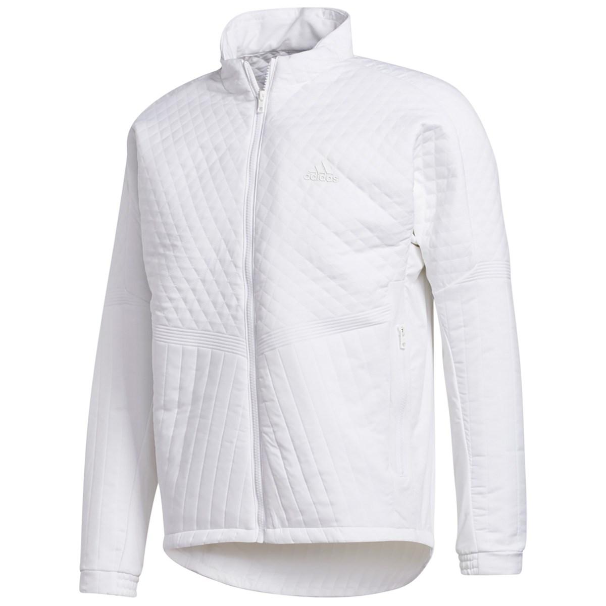 アディダス Adidas スポーツキルティング ストレッチ フルジップジャケット J/M ホワイト