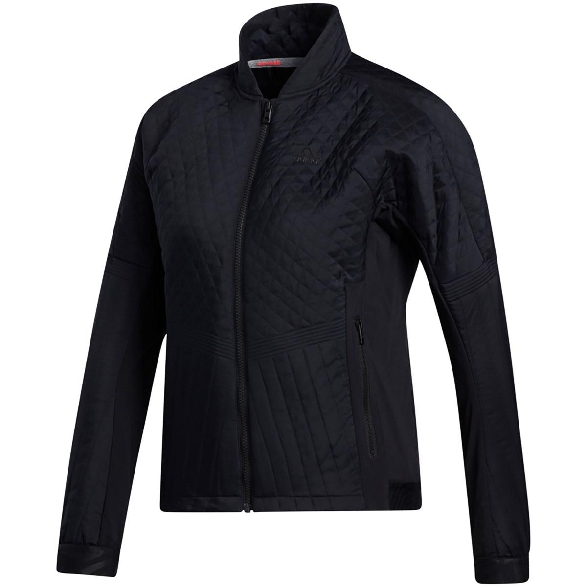 アディダス Adidas スポーツキルティング フルジップ ストレッチジャケット J/M ブラック レディス