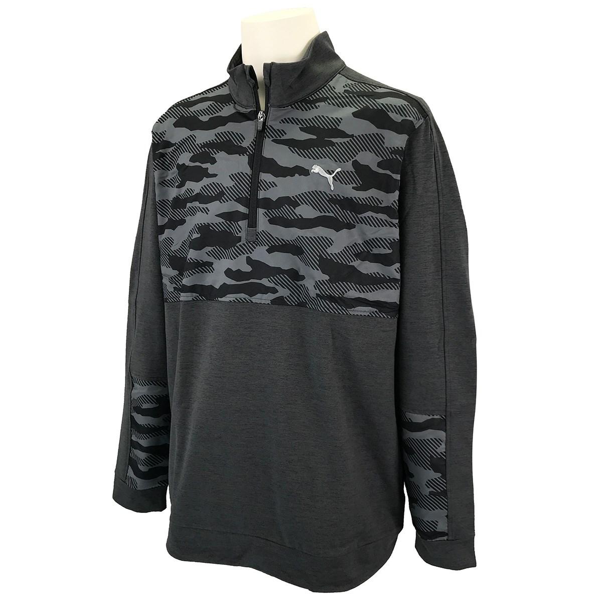 プーマ PUMA クラウドスパン カモ 1/4ジップ 長袖シャツ XS プーマブラック 02