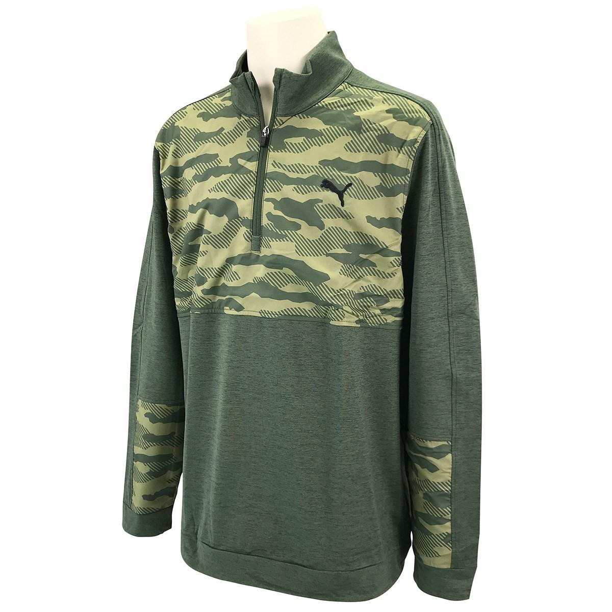 プーマ PUMA クラウドスパン カモ 1/4ジップ 長袖シャツ XS タイム 01