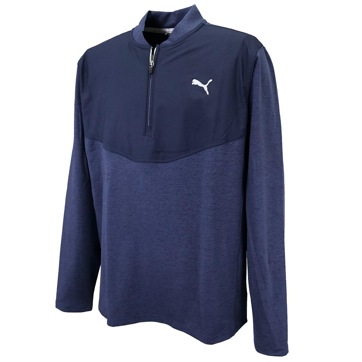 プーマ PUMA クラウドスパン 1/4ジップ 長袖シャツ XS ピーコートヘザー 02