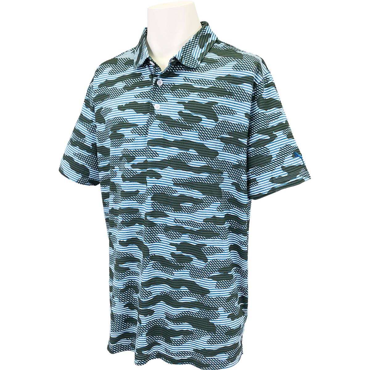 クラウドスパン カモ 半袖ポロシャツ