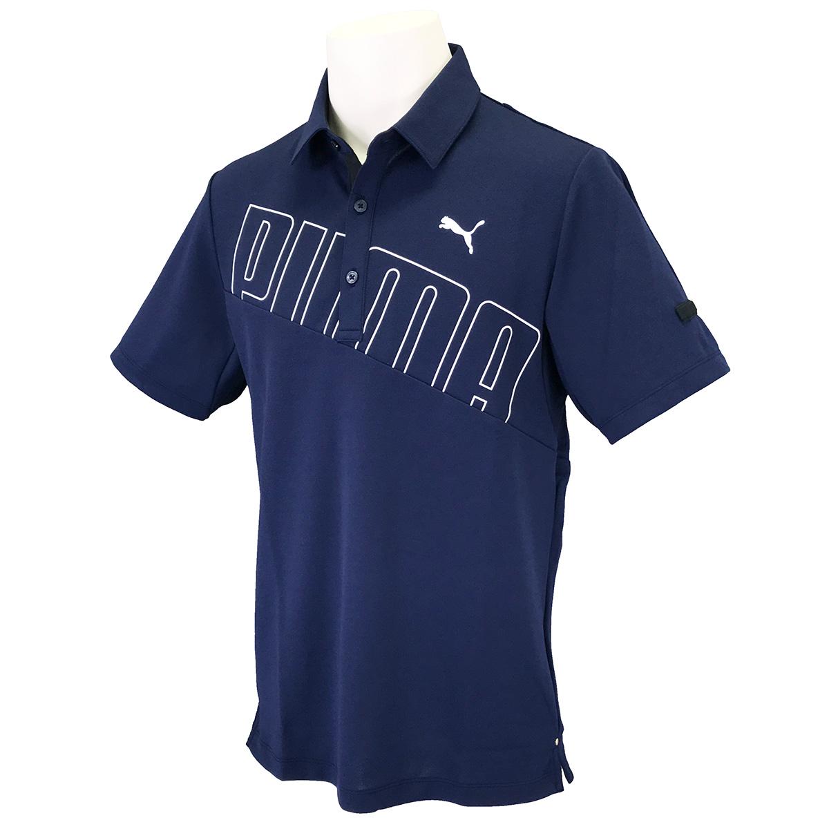 ビッグ PUMA ロゴ 半袖ポロシャツ