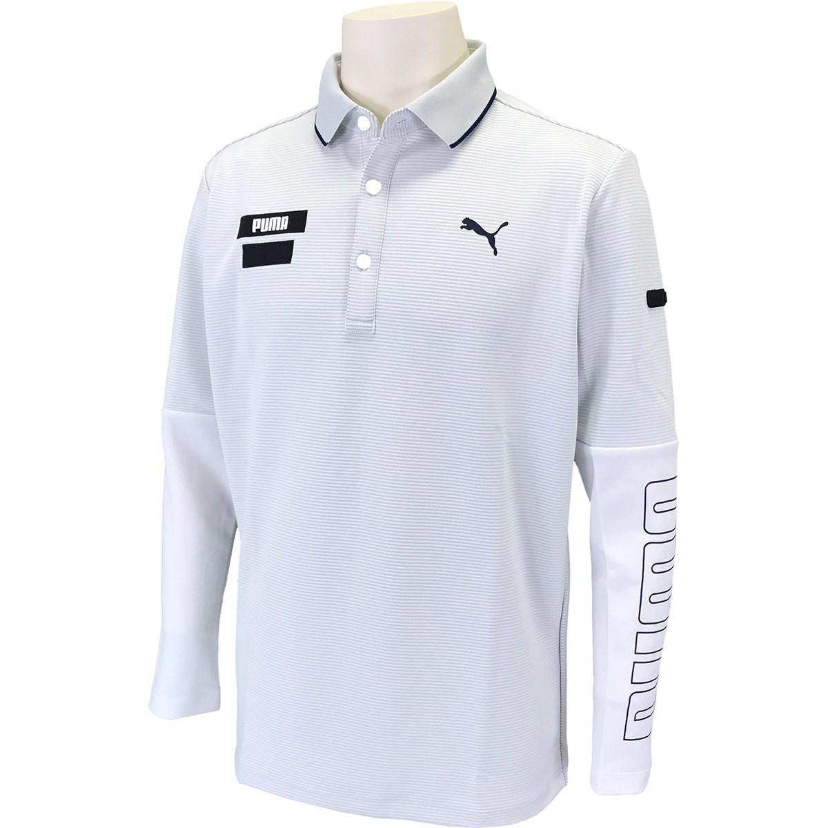 プーマ PUMA タイト スリーブ 長袖ポロシャツ L ブライトホワイト 03