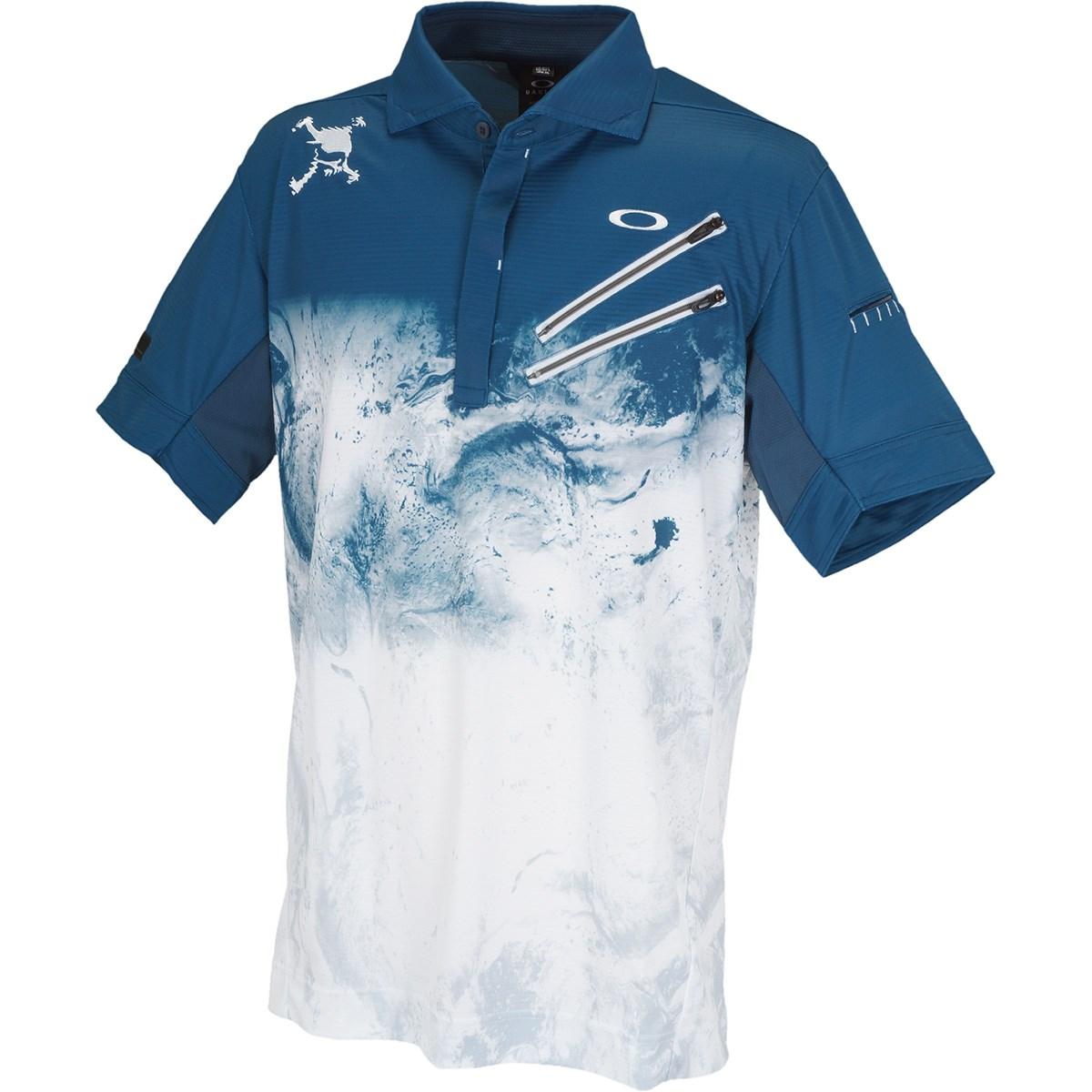 オークリー Skull スカル EXPLODE 半袖ポロシャツ US・EU/S ブループリント 62K