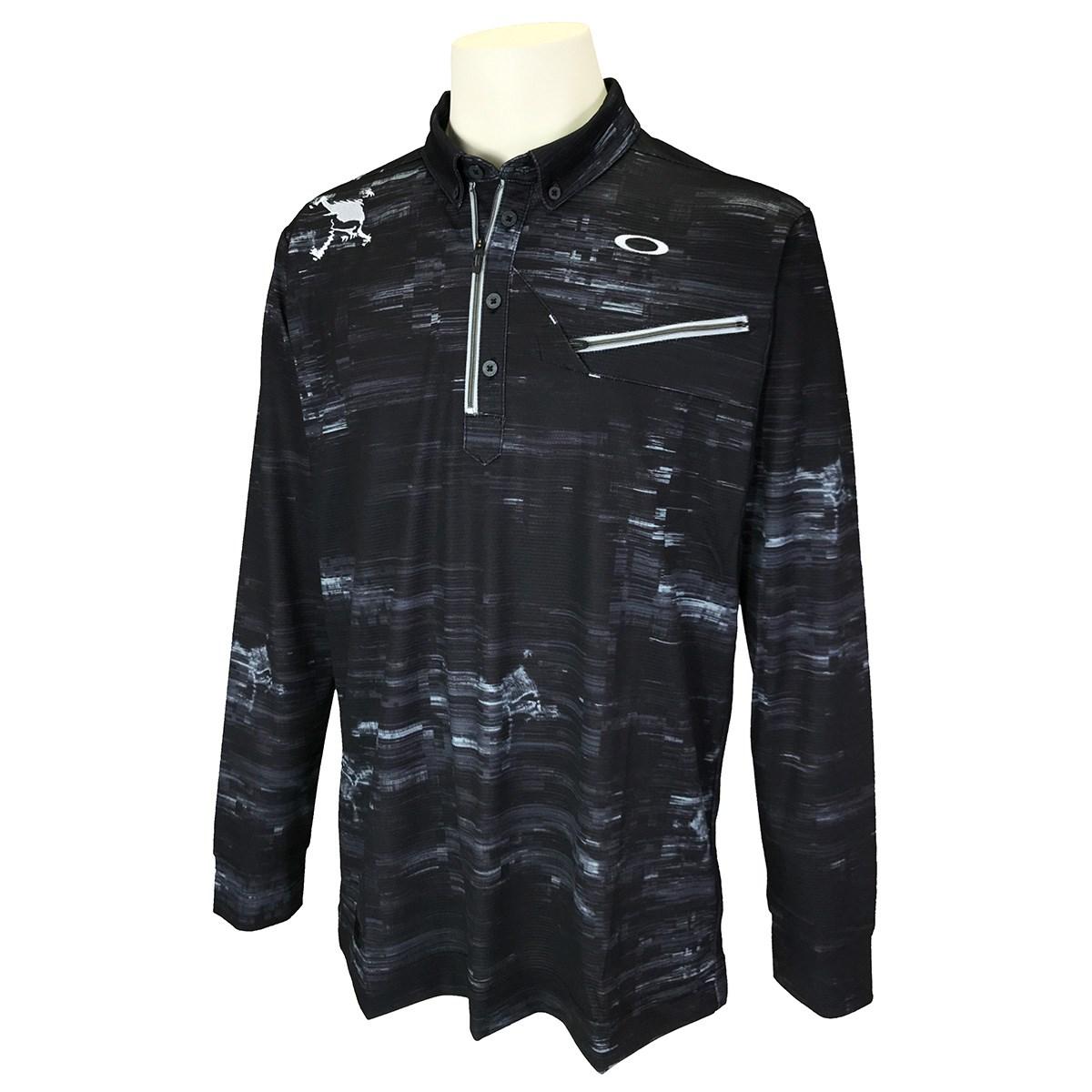オークリー Skull スカル MUSCULAR 長袖ジップシャツ 2.0 US・EU/M ブラックプリント 00G
