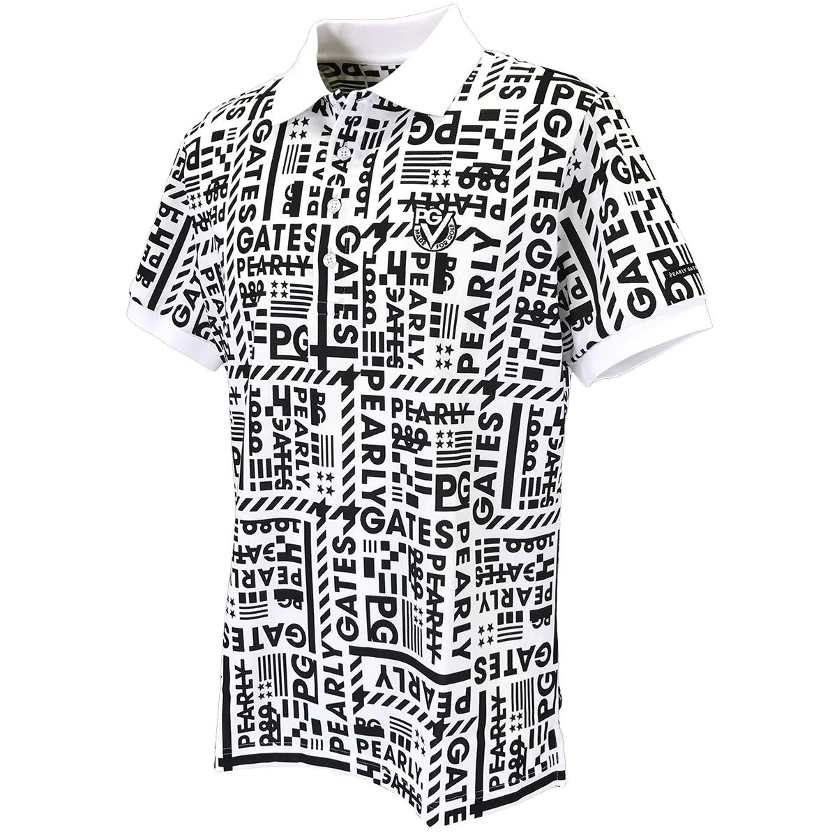 鹿の子 格子ブロックロゴ半袖ポロシャツ
