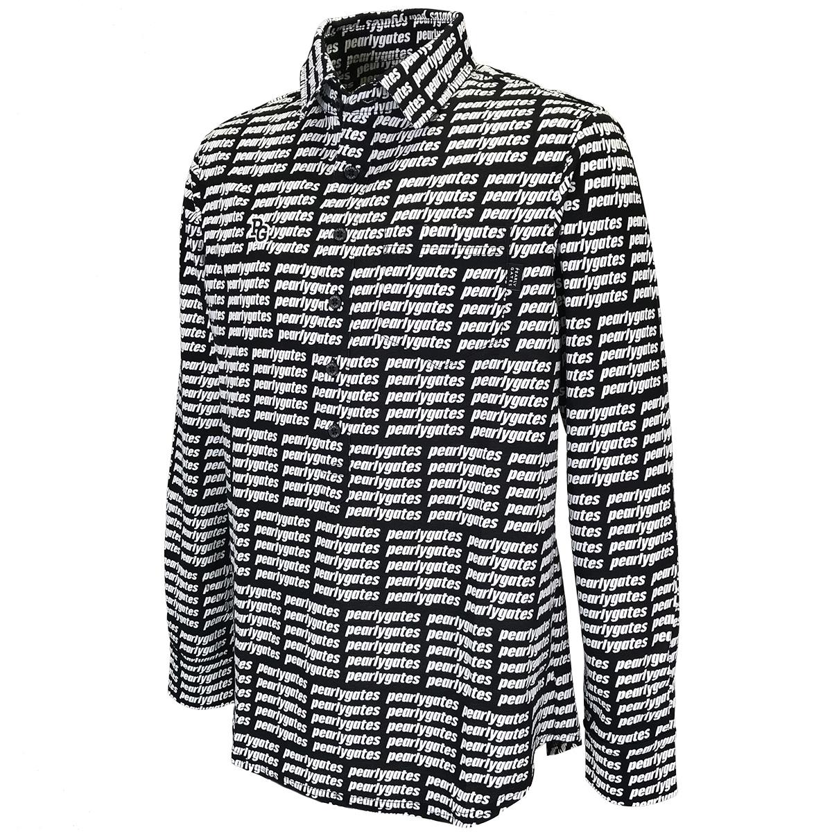 TCポンチローマ 格子ブロックロゴ長袖ポロシャツ