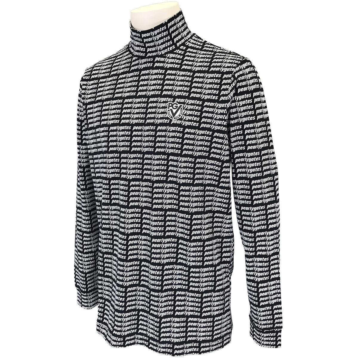 ベア天 格子ブロックロゴ長袖シャツ