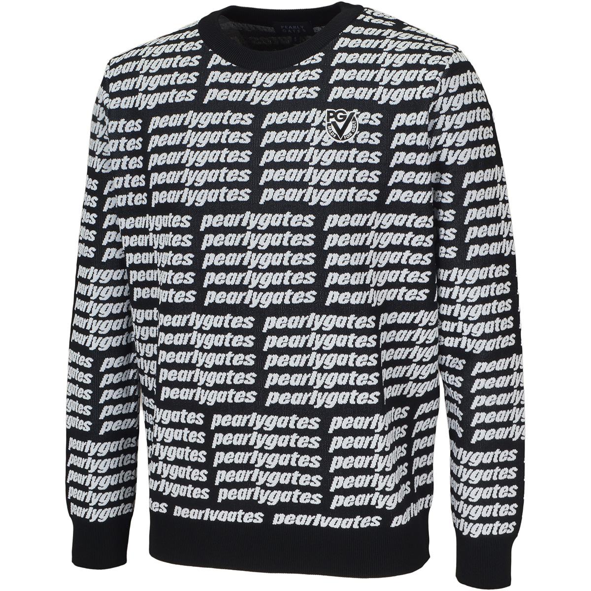 ロゴ柄 光栓セーター