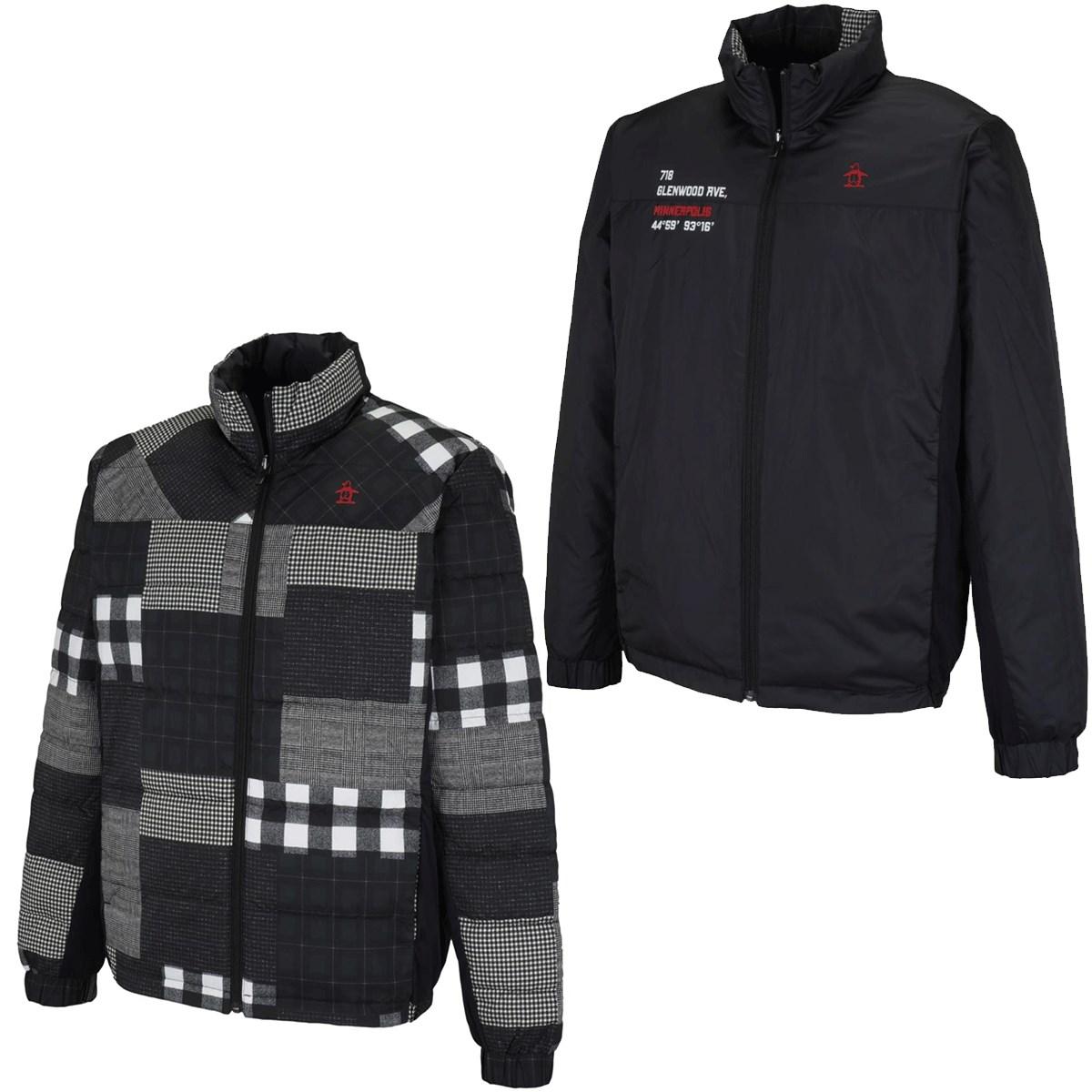 マンシングウェア Munsingwear リバーシブル ダイバーシティチェック総柄ブルゾン L ブラック/マルチ