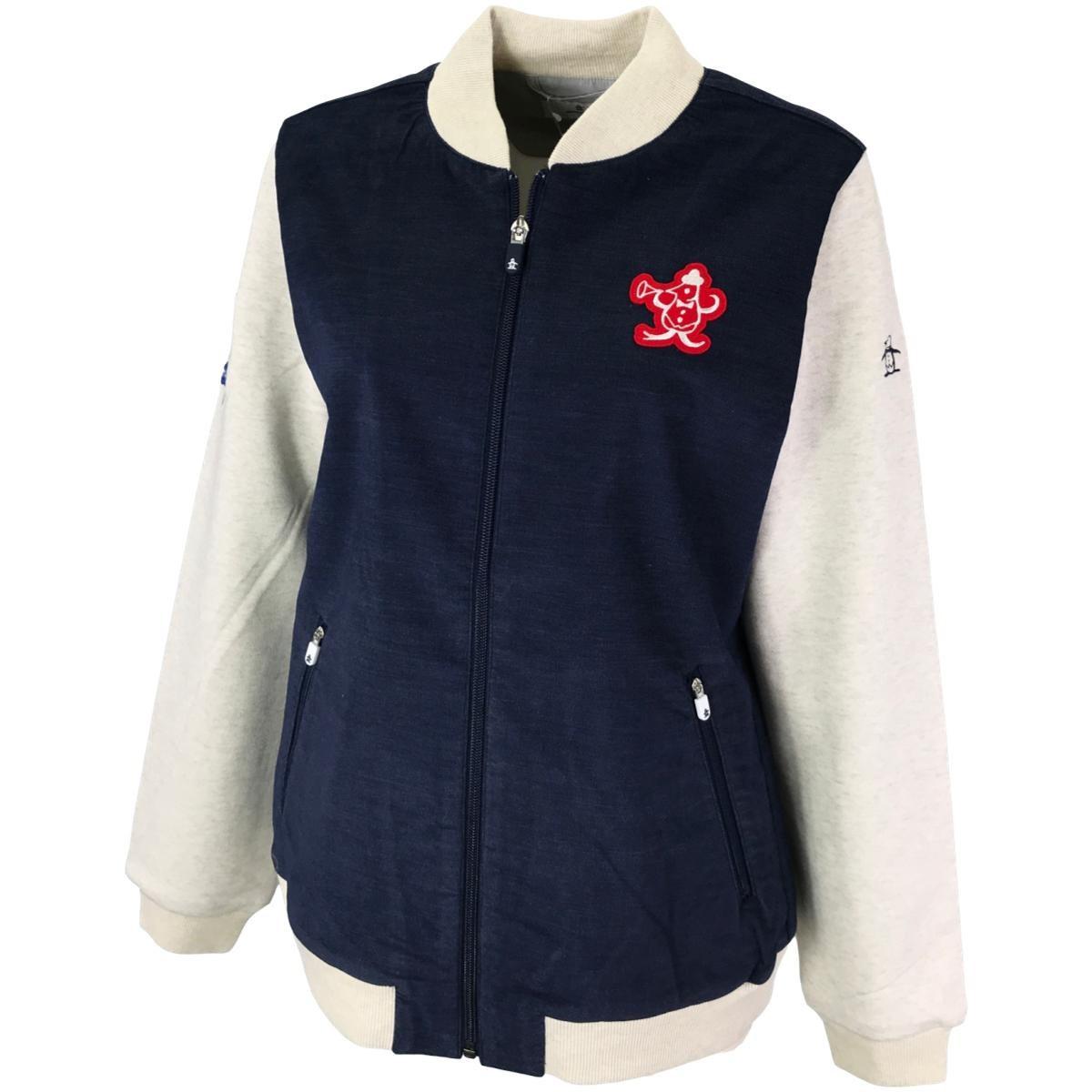 マンシングウェア Munsingwear MITSUSHIGE NISHIWAKI コラボ スタジャン風ストレッチブルゾン LL ネイビー 00 レディス
