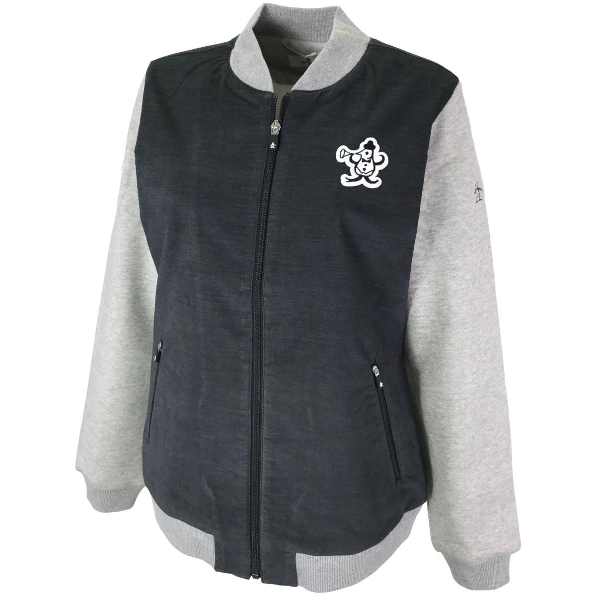 マンシングウェア Munsingwear MITSUSHIGE NISHIWAKI コラボ スタジャン風ストレッチブルゾン M グレー 00 レディス