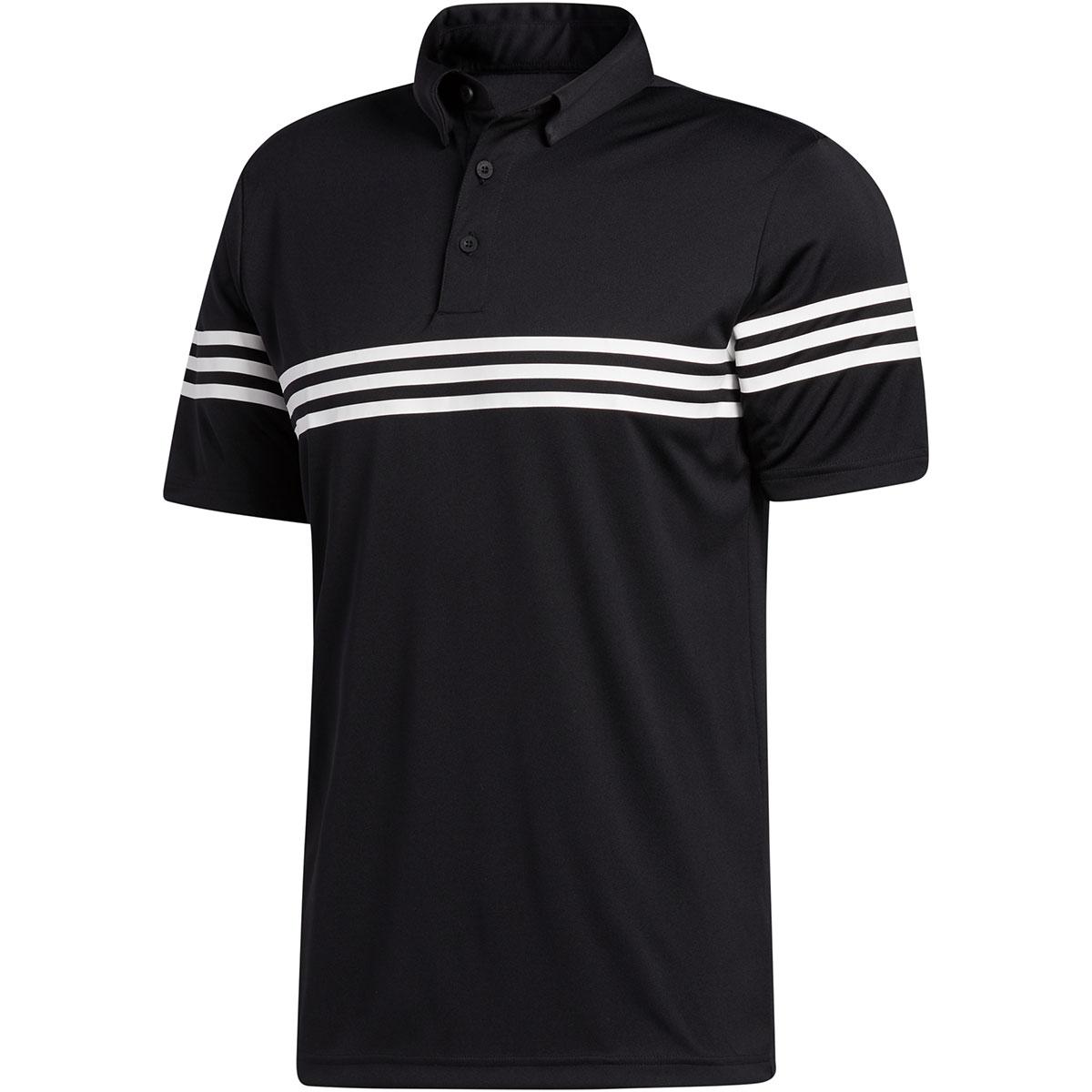 スリーストライプス半袖ポロシャツ