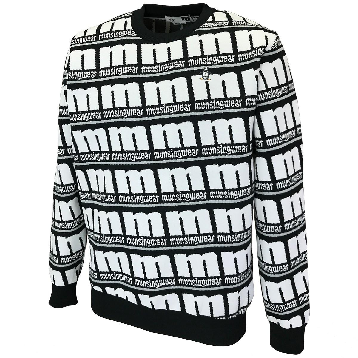 マンシングウェア BIG mロゴ総柄セーター