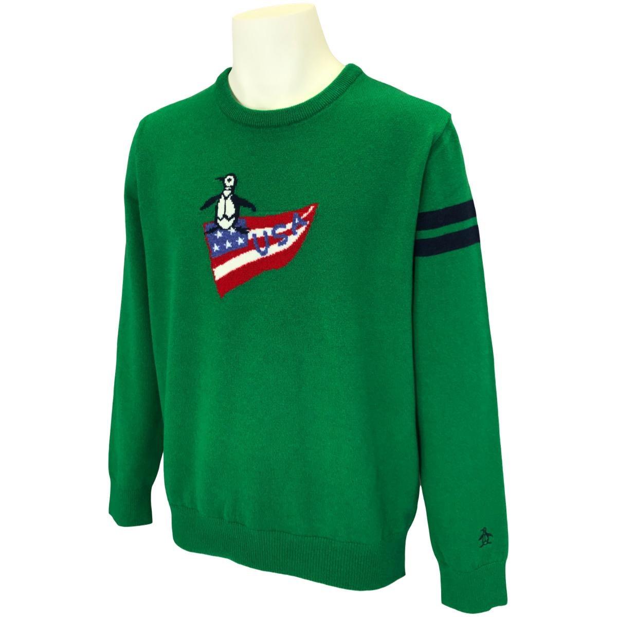 マンシングウェア LAMBS WOOL USAペンギンインターシャセーター