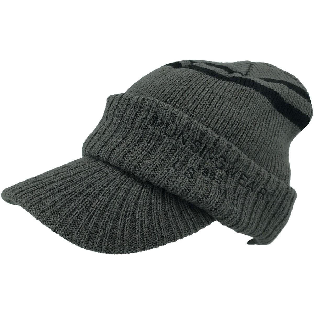 マンシングウェア Munsingwear ツバ付きニットキャップ フリー グレー 01